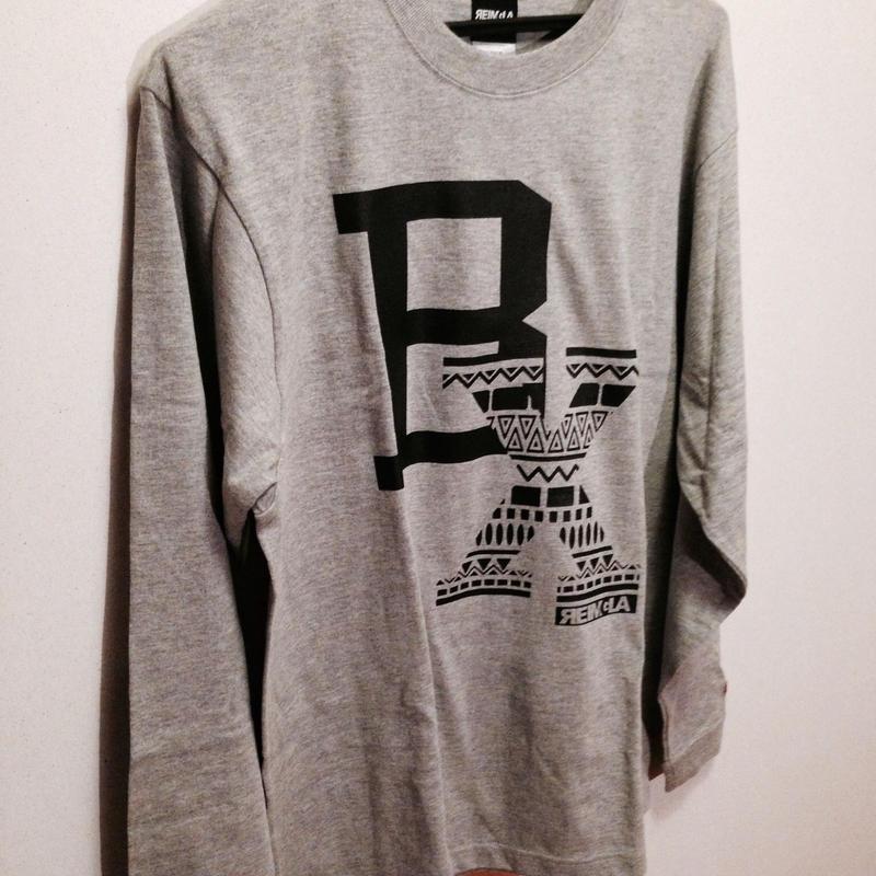 BLAX Tribal Long T-shirts(Gray)