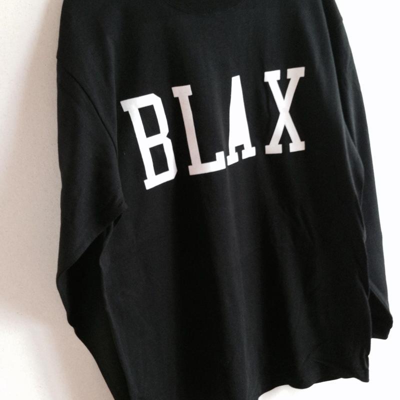 BLAX LOGO Long T-shirts(Black)