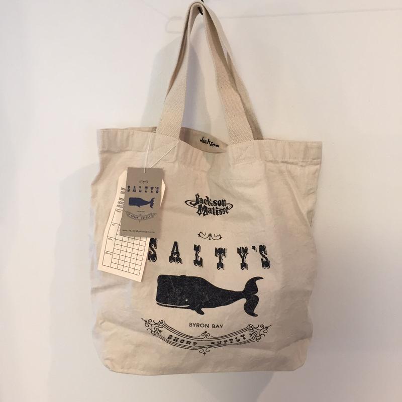 ソルティーズ×ジャクソンマティス/Salty's×JacksonMatisse Whale Logo Tote トートバッグ