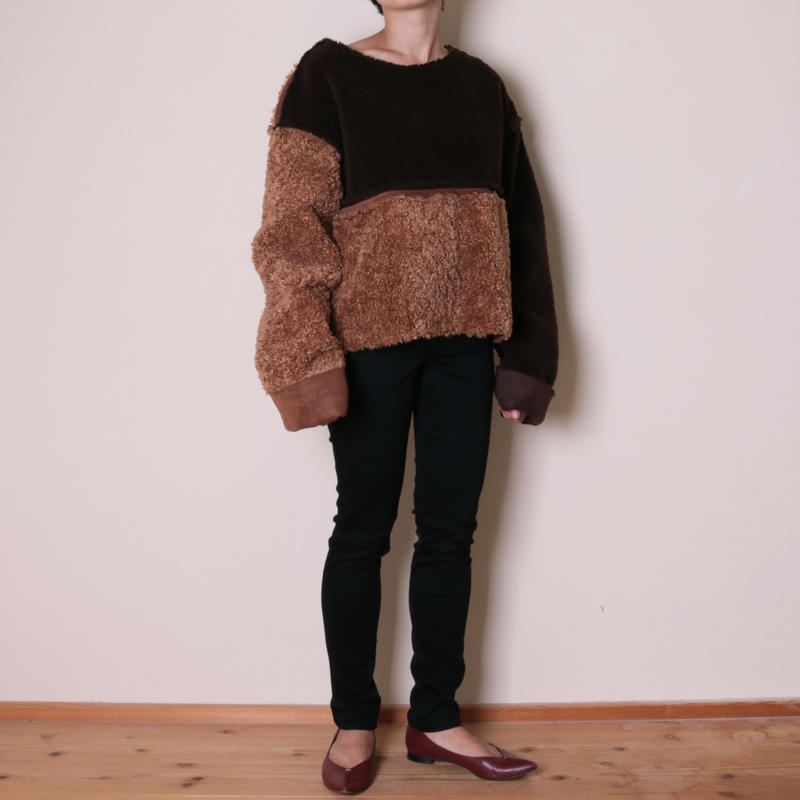 【&her】Reversible Mouton PO/Brown