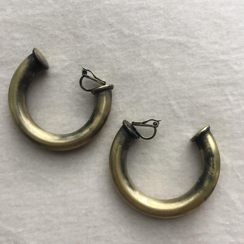 【V I A】 Thick  Hoop Earrings/Gold