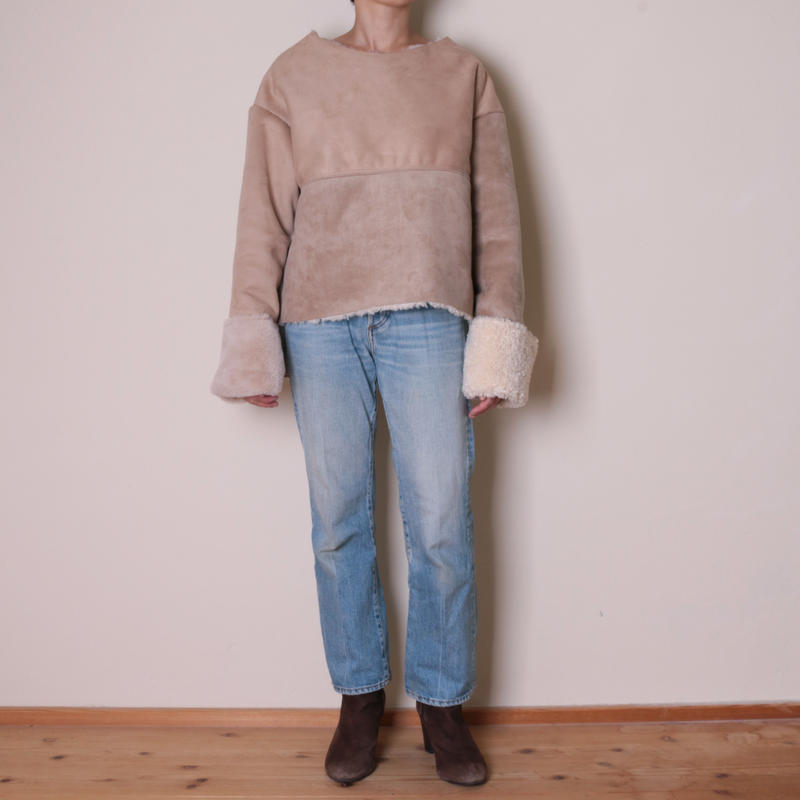 【&her】Reversible Mouton PO/Ivory