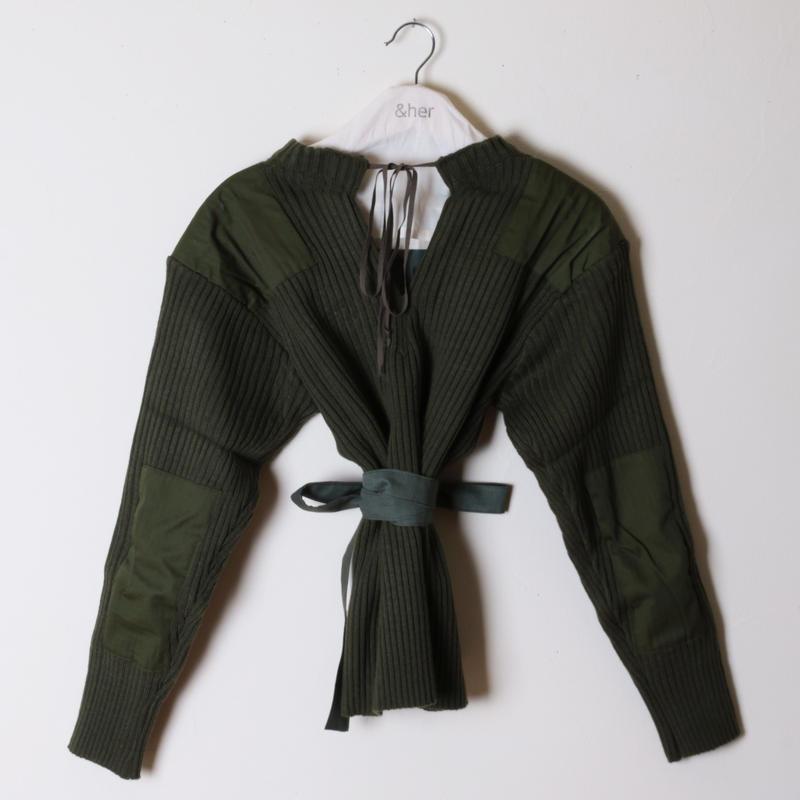 【&her】Army Knit/Khaki