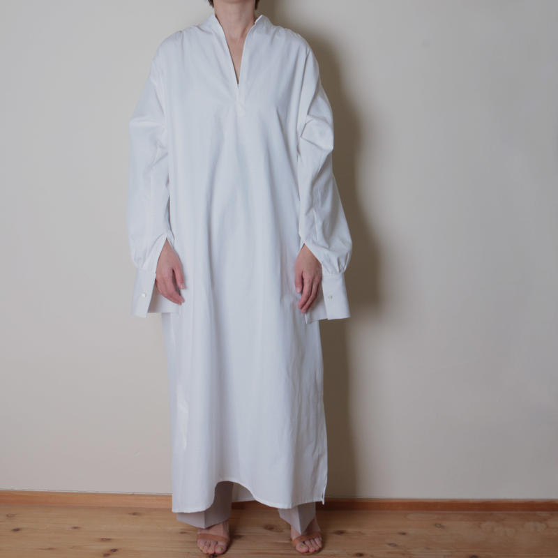 【&her】 Over Onepiece/White