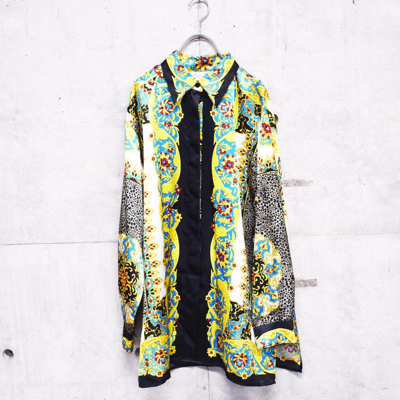 scarf pattern design printed shirt