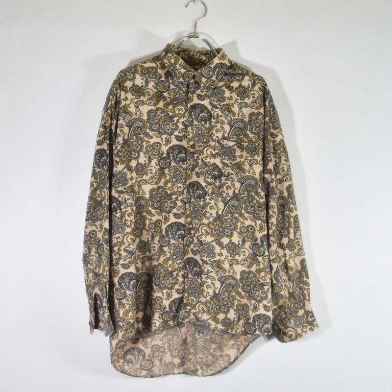 フィッシュテール総柄シャツ/S-0006