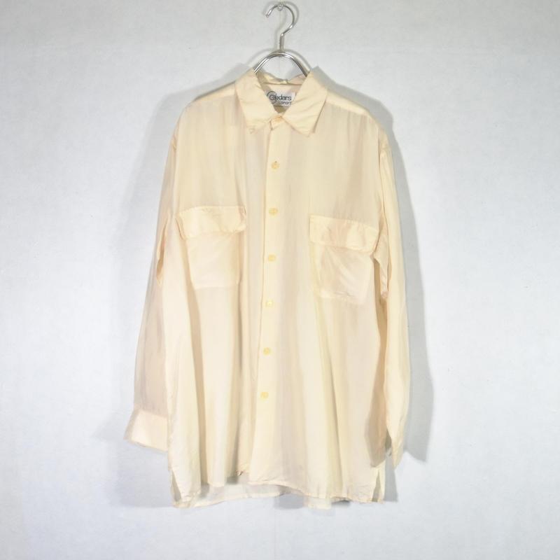 シルクシャツ ホワイト/S-0024