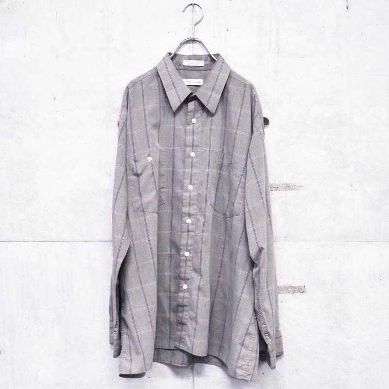 Pierre cardin polyester cotton check shirt