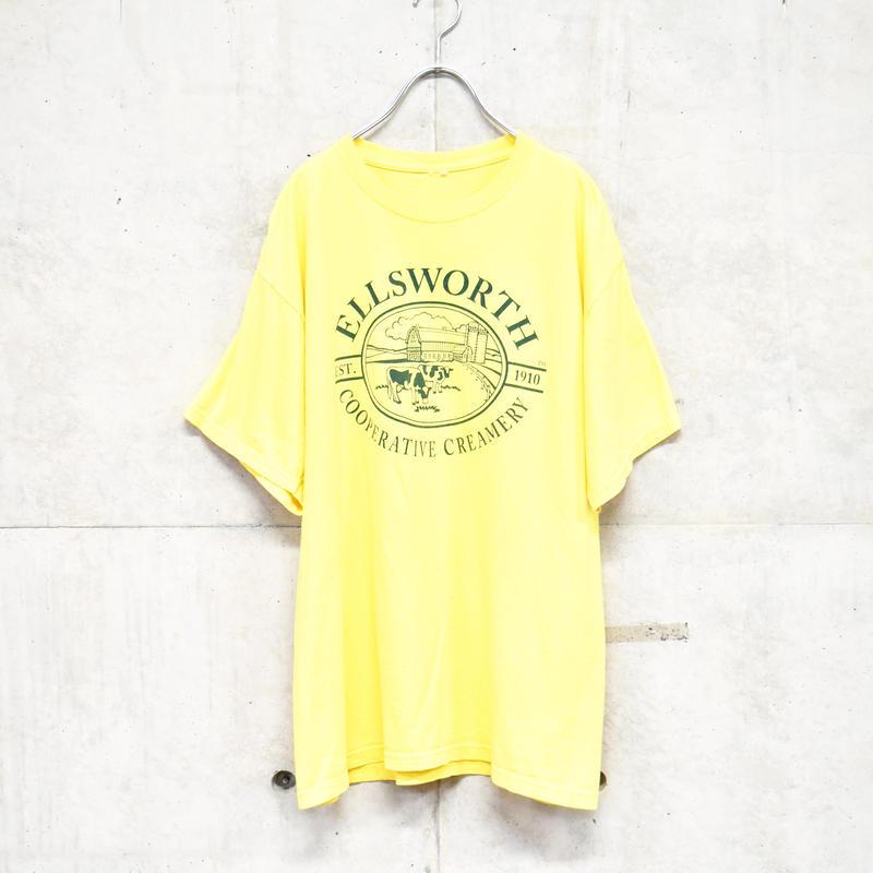 farm printed yellow tee