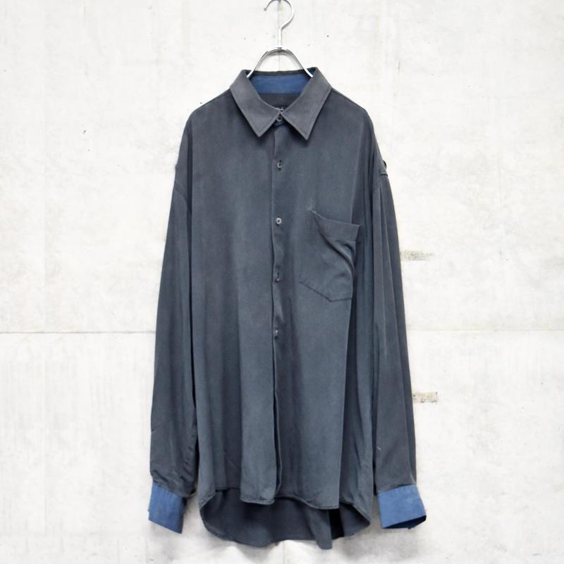 agnes b L/S 2tone shirt
