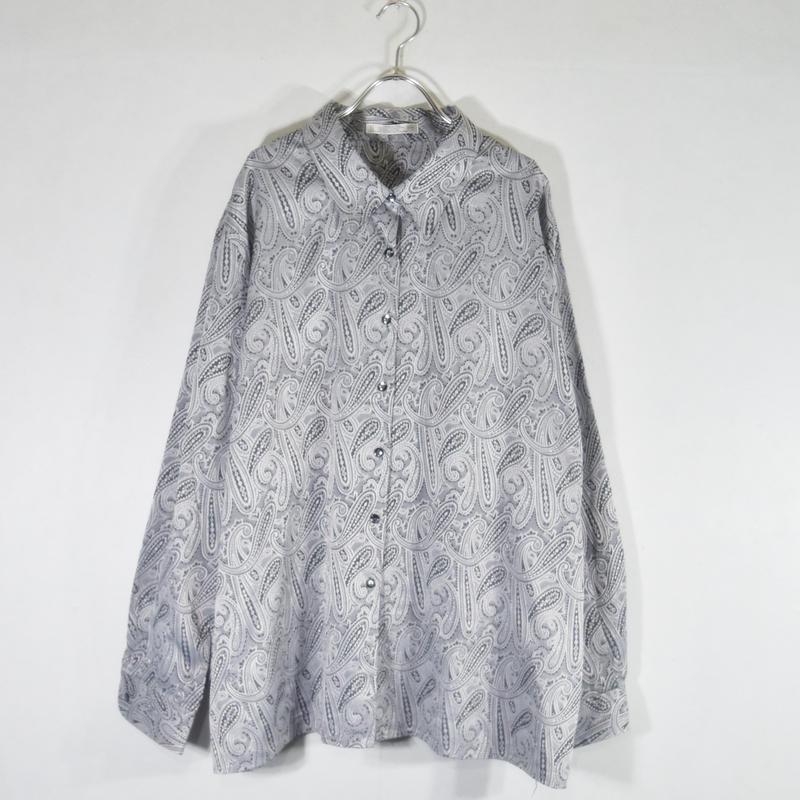 BIGペイズリーシャツ/S-0005