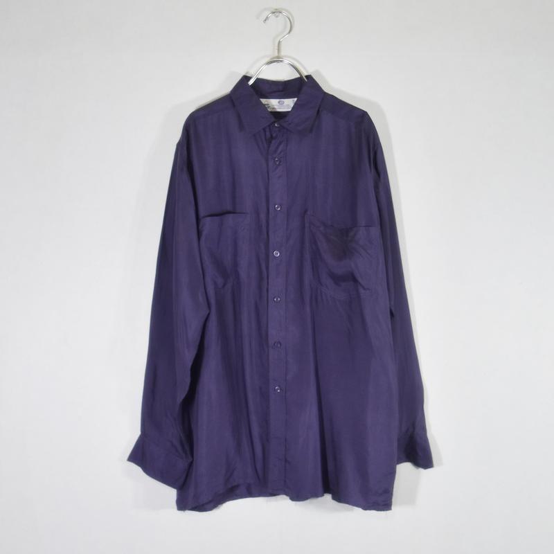 シルクシャツ パープル/S-0028