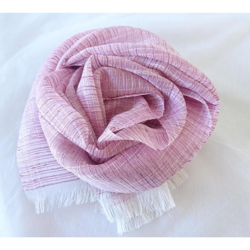 大島紬キイトストール2nd・ピンク