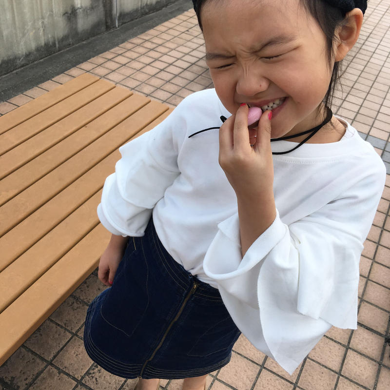 【 kids】cotton volume sleeve tops
