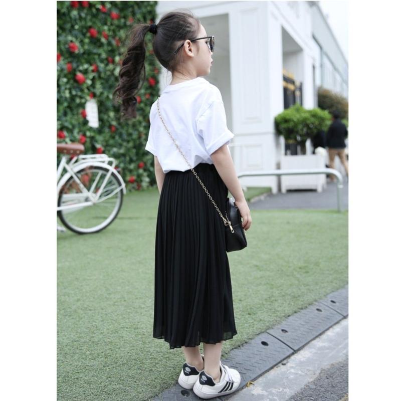 (girl)ロングシフォンプリーツスカート