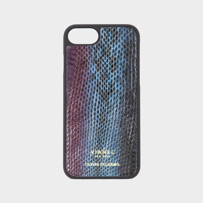VIANEL NEW YORK iPhone 8/7 Case - SNAKE TEAL WITH PURPLE (OLIVIA PALERMO)