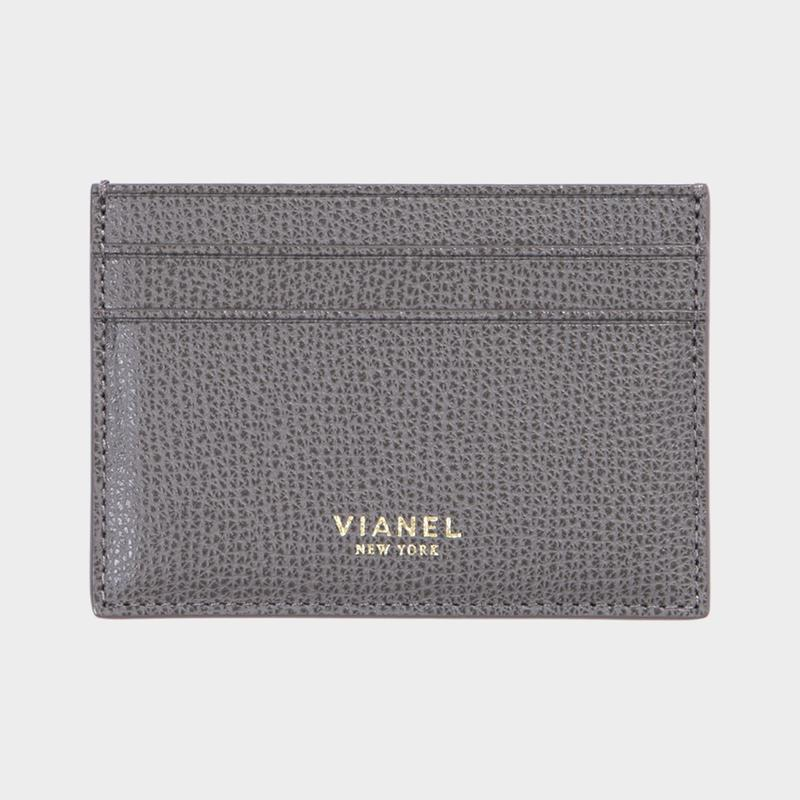 VIANEL NEW YORK V3 CARD HOLDER - CALFSKIN LIGHT GREY