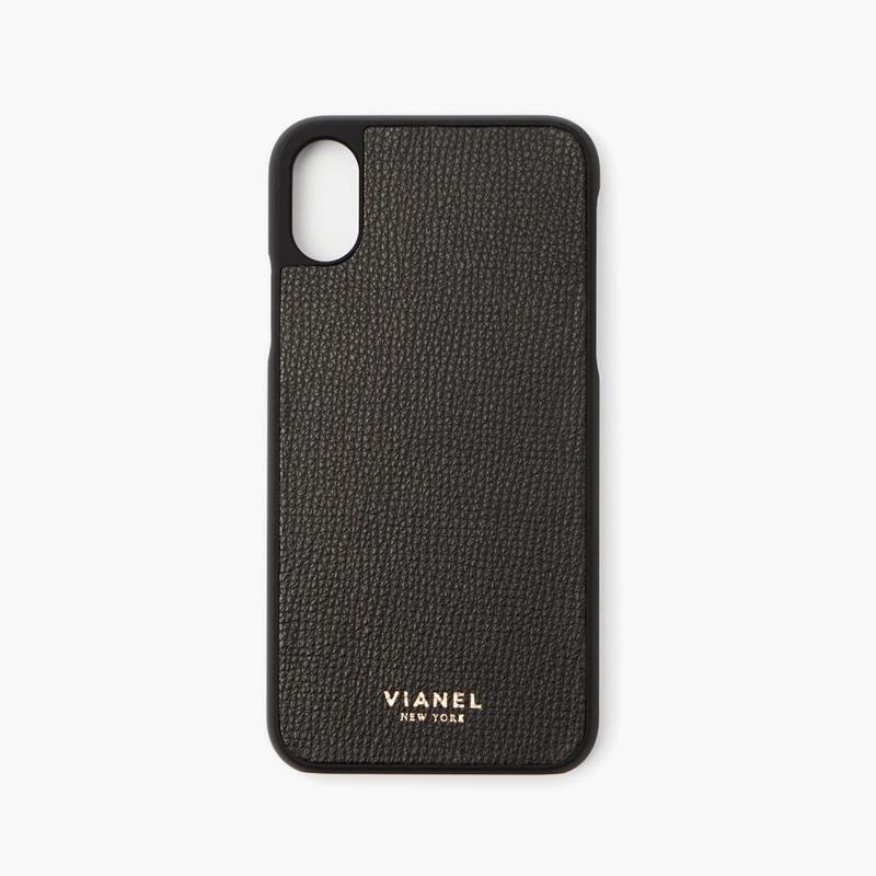 VIANEL NEW YORK iPhone Xs/X Case - CALFSKIN BLACK