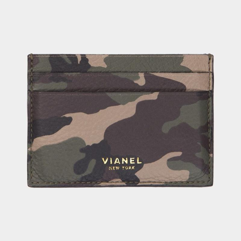 VIANEL NEW YORK V3 CARD HOLDER - CALFSKIN CAMO