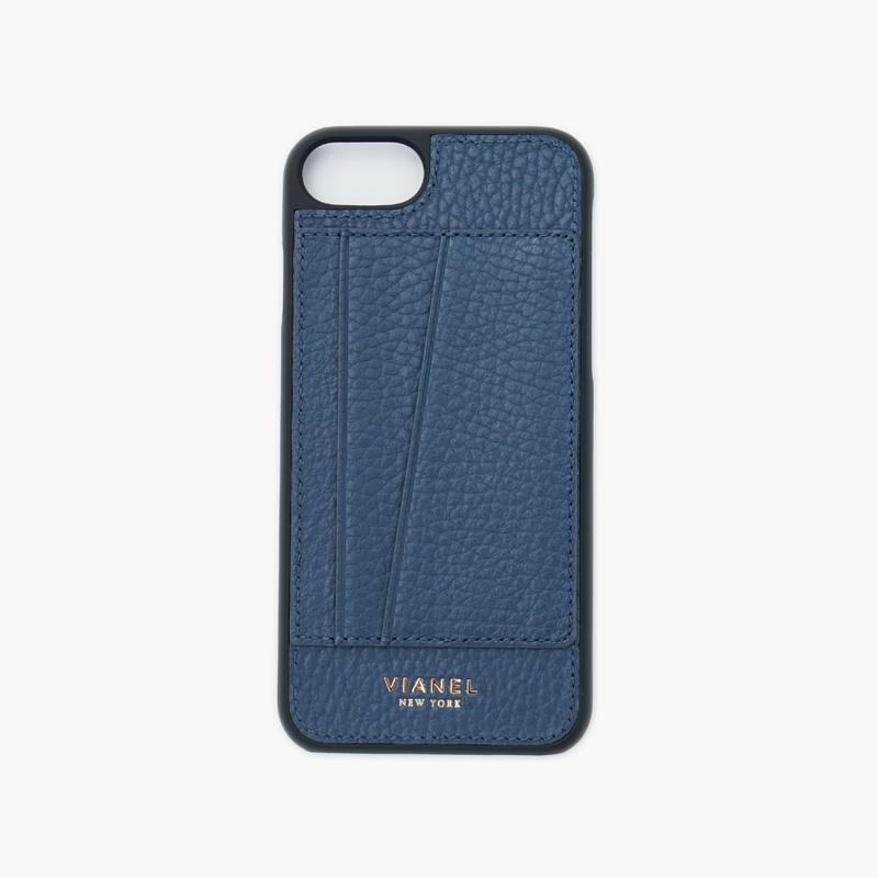 VIANEL NEW YORK - Cardholder iPhone 8/7 Case - Calfskin Navy