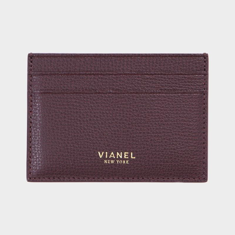 VIANEL NEW YORK V3 CARD HOLDER - CALFSKIN OXBLOOD