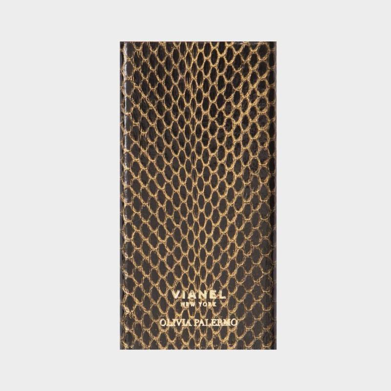 VIANEL NEW YORK V.BACKUP - SNAKE BLACK WITH GOLD (OLIVIA PALERMO)
