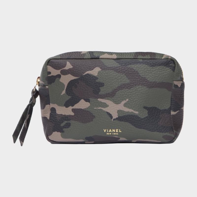VIANEL NEW YORK COSMETIC BAG - CALFSKIN CAMO