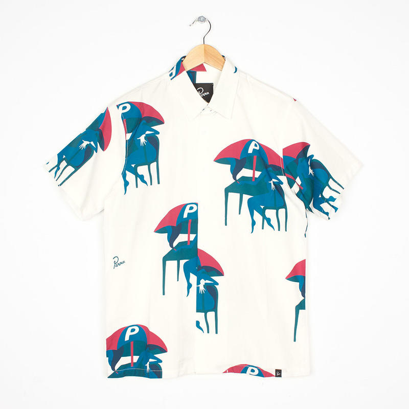 by Parra / camp collar shirt monaco