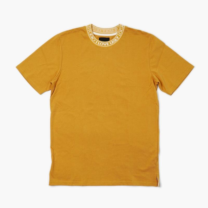 I LOVE UGLY / NECK LOGO TEE - BOURBON