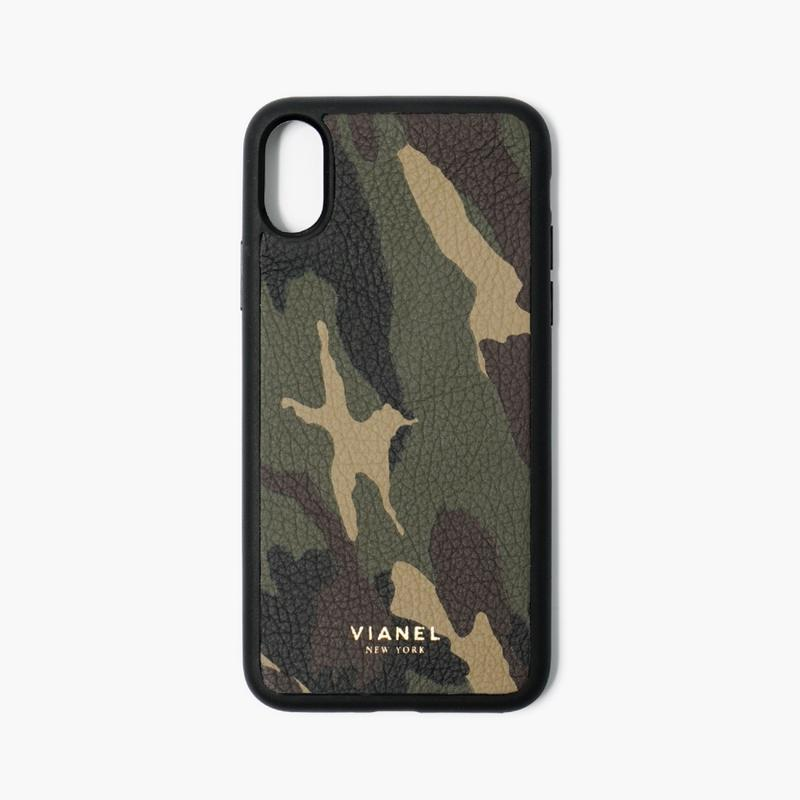 VIANEL NEW YORK iPhone Xs/X Case (Flex Type) - CALFSKIN CAMO