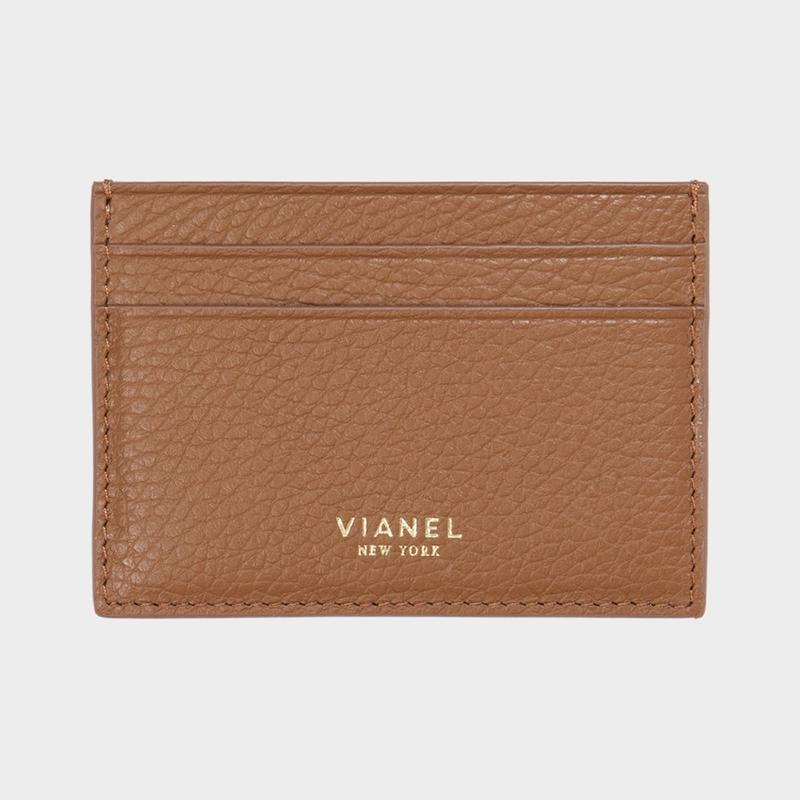 VIANEL NEW YORK V3 CARD HOLDER - CALFSKIN TAN