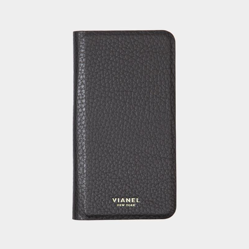 VIANEL NEW YORK Folding iPhone 8/7 Case - CALFSKIN BLACK