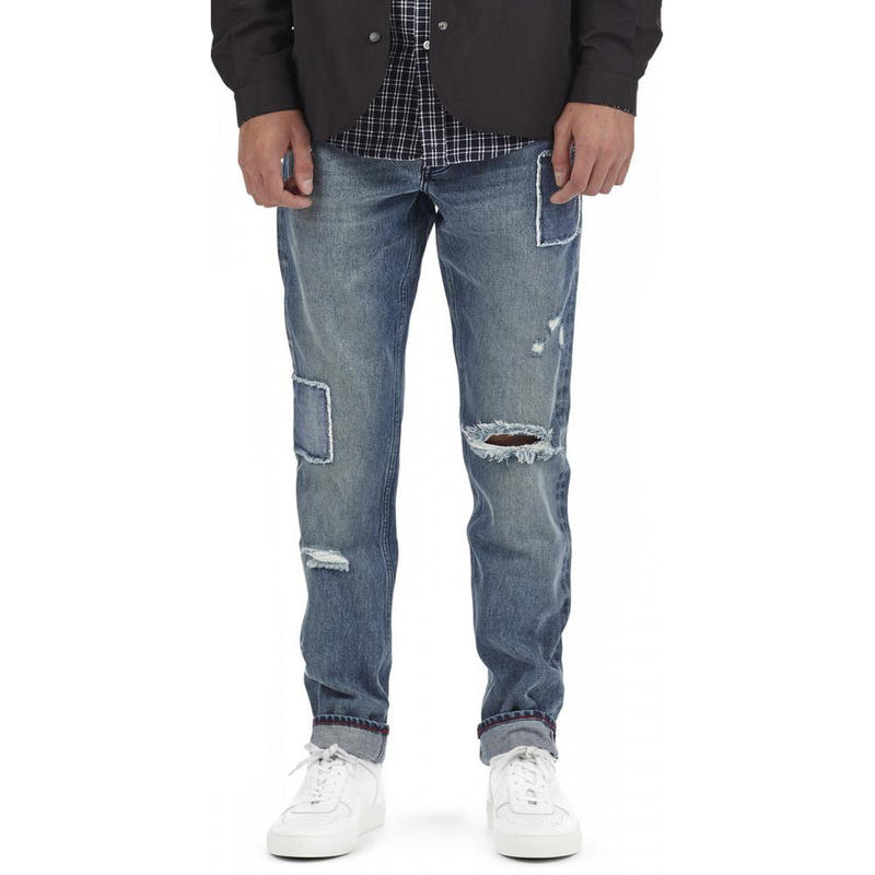 I LOVE UGLY / STRAIGHT LEG DENIM - PATCHWORK BLUE