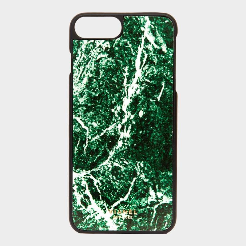 VIANEL NEW YORK - iPhone 8Plus/7Plus Case - Calfskin Marbled Jade