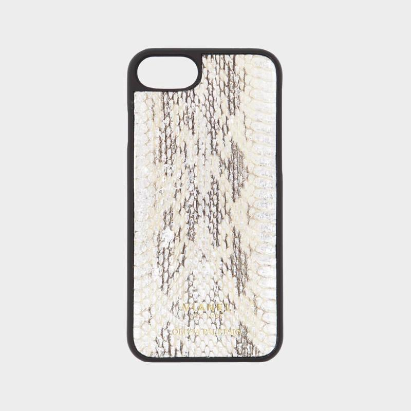 VIANEL NEW YORK iPhone 8/7 Case - SNAKE SILVER WITH WHITE AND BLACK (OLIVIA PALERMO)