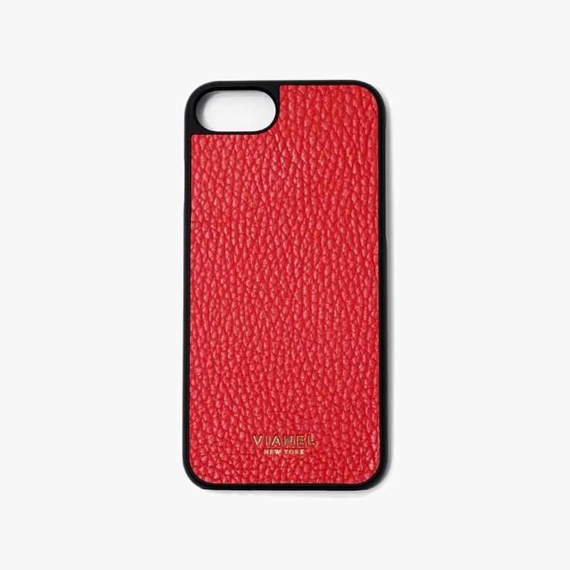 VIANEL NEW YORK iPhone 8/7 Case - CALFSKIN RED