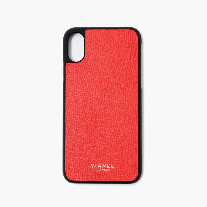 VIANEL NEW YORK iPhone Xs/X Case - CALFSKIN RED