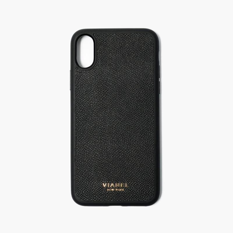 VIANEL NEW YORK iPhone Xs/X Case (Flex Type) - CALFSKIN BLACK