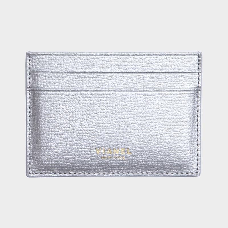 VIANEL NEW YORK V3 CARD HOLDER - CALFSKIN SILVER