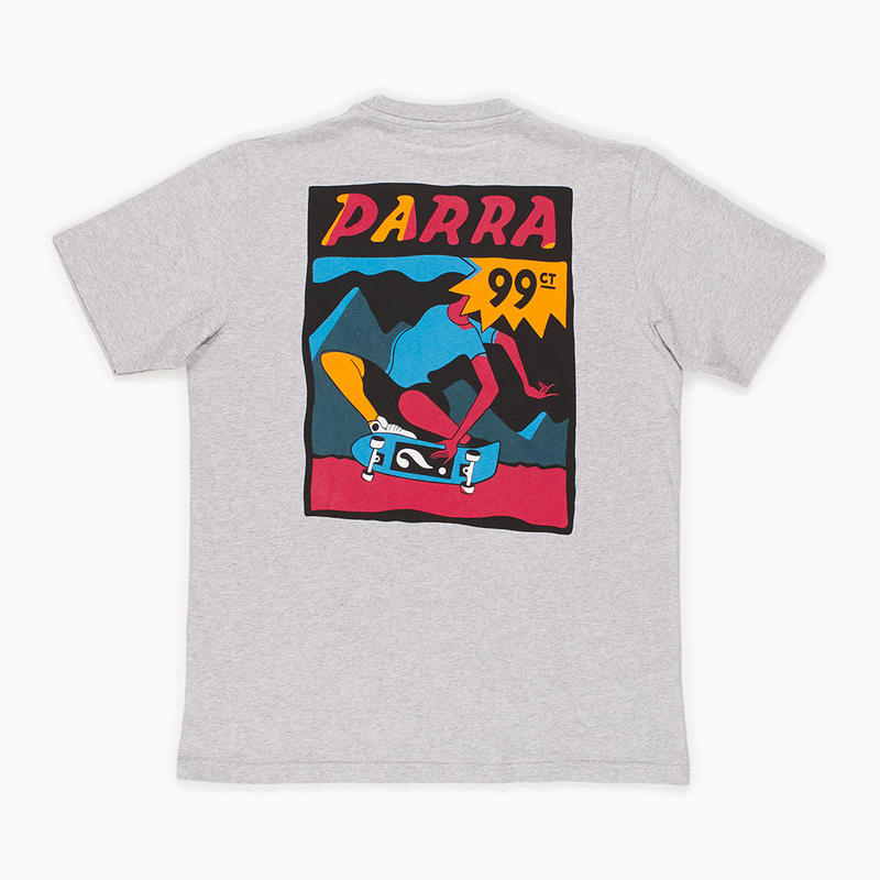 by Parra / t-shirt indy tuck knee - ash gray