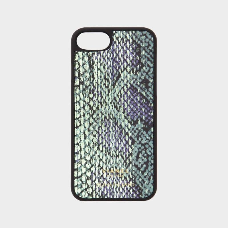 VIANEL NEW YORK iPhone 8/7 Case - SNAKE GREEN METALLIC (OLIVIA PALERMO)