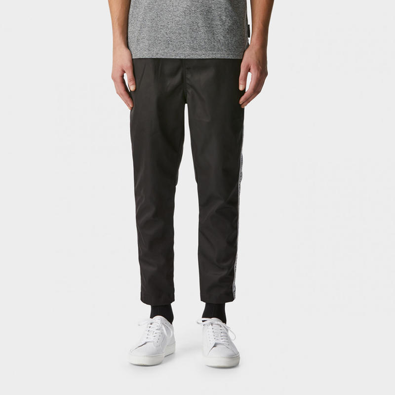 I LOVE UGLY / ANTON TRACK PANT - BLACK TAPED