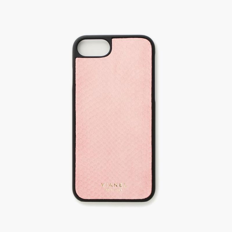 VIANEL NEW YORK - iPhone 8/7 Case - Snakeskin Salmon