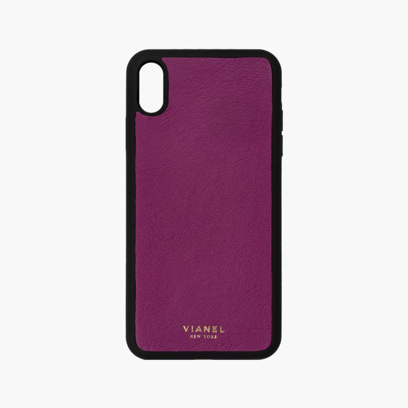 VIANEL NEW YORK / Flex iPhone Xs/X Case  - Calfskin Orchid