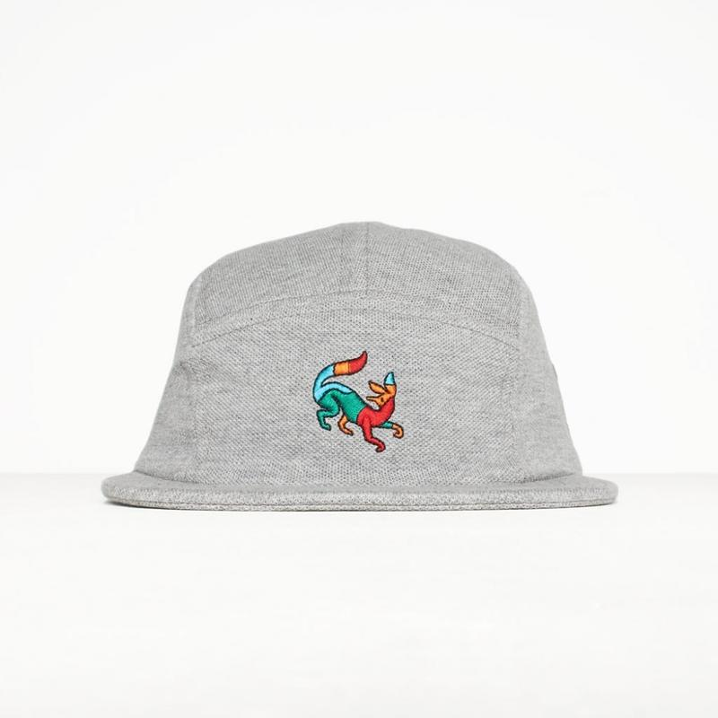 by Parra / 5 PANEL VOLLEY HAT CONFUSED FOX - HEATHER GREY