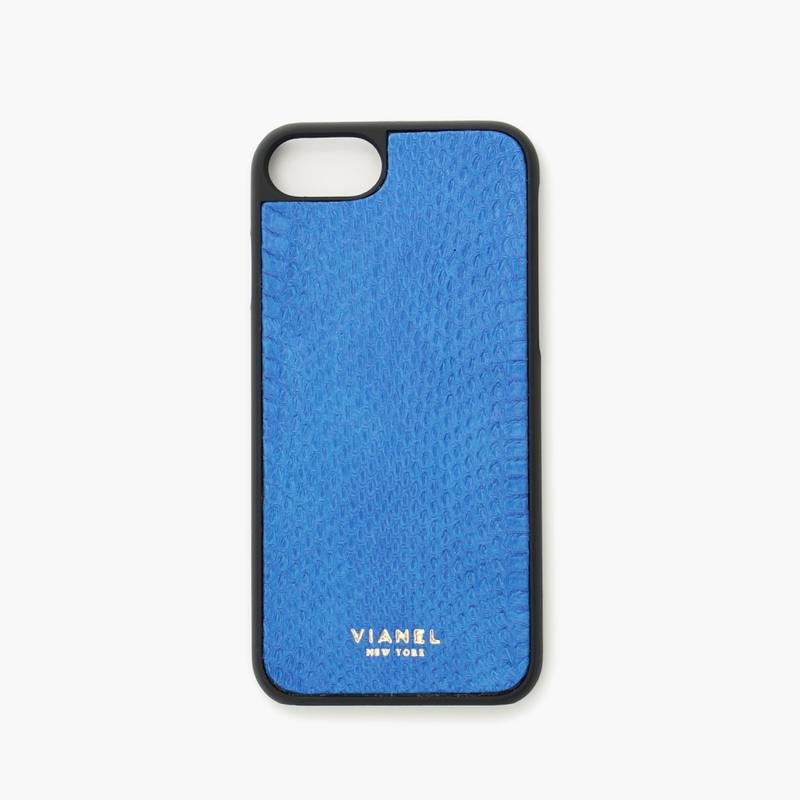 VIANEL NEW YORK - iPhone 8/7 Case - Snakeskin Blue