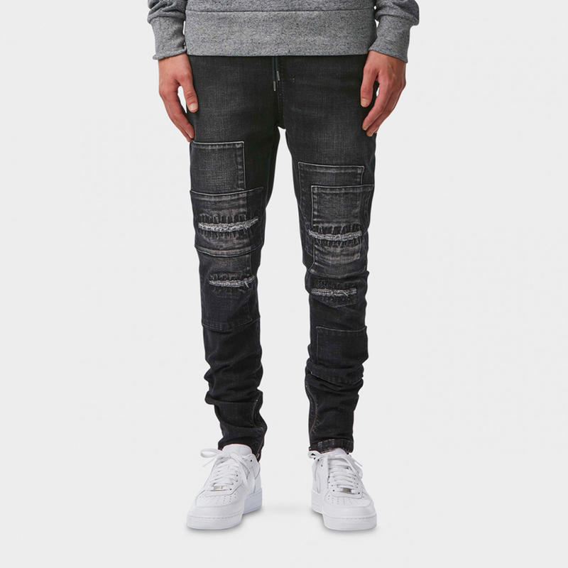 I LOVE UGLY / ZESPY PANT DENIM MID RISE - BLACK PANEL