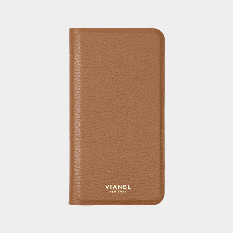 VIANEL NEW YORK - Folding iPhone 8/7 Case - Calfskin Tan
