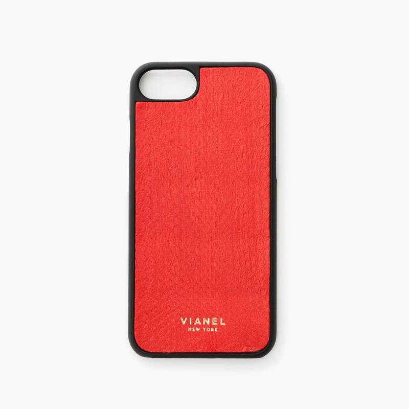 VIANEL NEW YORK - iPhone 8/7 Case - Snakeskin Red
