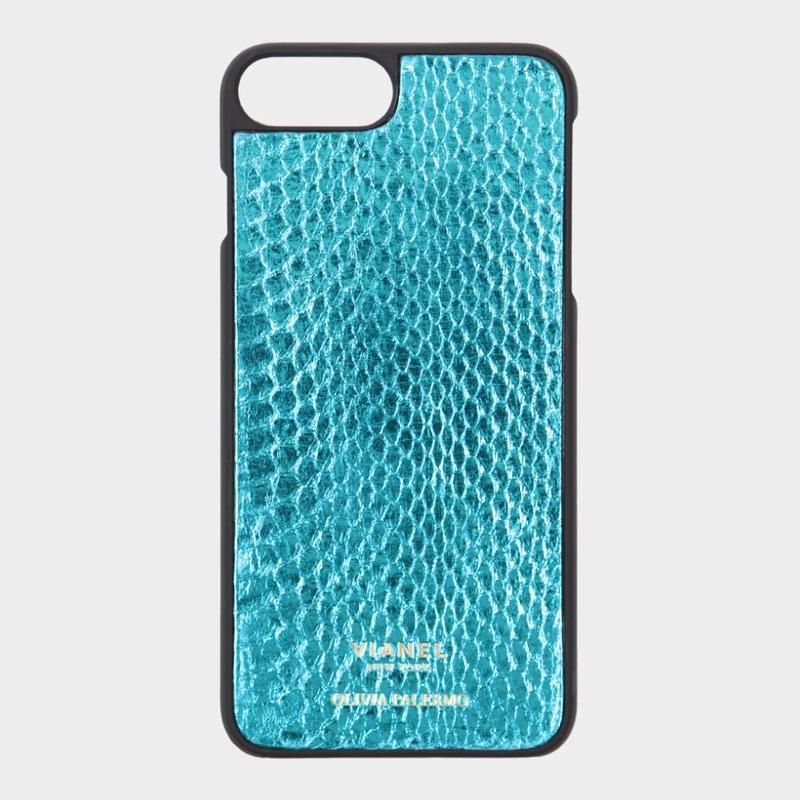 VIANEL NEW YORK iPhone 8Plus/7Plus Case - SNAKE TEAL METALLIC (OLIVIA PALERMO)